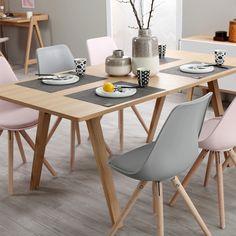 西亚菲 实木餐桌椅组合 可伸缩小户型餐桌长方形北欧饭桌-淘宝网