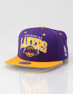 f98c85830376a Mitchell   Ness Arch LA Lakers Snapback Cap Las Angeles Lakers