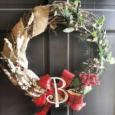 Twig christmas wreath DIY