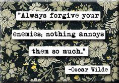 Oscar Wilde Enemies Quote Magnet or Pocket Mirror (no.244)