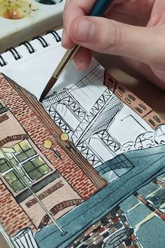 Watercolor Art Lessons, Watercolour, Architecture Drawing Art, Art Painting Gallery, Arte Sketchbook, Art Drawings Sketches Simple, Diy Canvas Art, Art Tutorials, Chill
