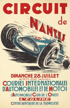 Circuit de Nantes - Courses internationales d'automobiles et de motos - Automobile Club de l'ouest - 1946 - (Marcel Choiyeau) -
