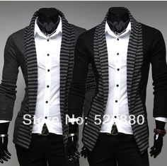 2016 new spring fashion color stripe cardigan  sweater Men's casual Slim Fit blusa masculina long-sleeved knitted sweater
