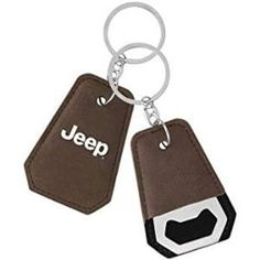 Jeep Chrome Accented Black Valet Key Chain Keychain