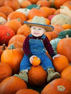 Baby photo shoot at the pumpkin patch Halloween Baby Photos, Fall Baby Pictures, Fall Family Photos, Baby Boy Photos, Fall Photos, Fall Pics, Newborn Pictures, Pumpkin Patch Pictures, Pumpkin Photos
