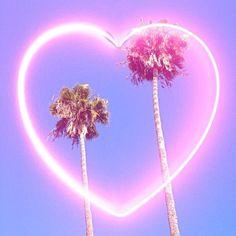 #Neon #Heart #Pink #Art #Design #PalmTrees #Sky #Summer #BiographyInspiration