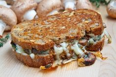 Mushroom Grilled Cheese...its amazing how mushrooms make this sandwich so tasty! Cant wait to try.