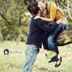 @April Loken  ... you should totally do this pose by your fave tree were you got engaged!!