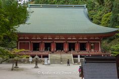 """The Shaka-do (釈迦堂), part of the Sai-tō (西塔, """"West Pagoda"""") complex of Enryaku-ji Temple (延暦寺) on Mt.Hiei zan (比叡山) in Ōtsu, Japan. Its former name was """"Tenbo Rin-do"""" (転法輪堂) and it is the oldest building on the mountain. The original hall was burned down during Oda Nobunaga's attack on Hieizan. The present building was originally the """"Miroku-do of Enjo-ji, which was relocated and modified by Toyotomi Hideyoshi."""