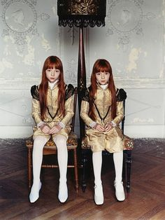 Edith, left, and her twin sister, Edras, age 7