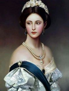 THE Victoria of Victorian period..I wish someone would discribe all of the jewelry she is wearing in this portrait!