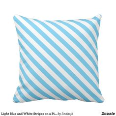 Light Blue and White Stripes on a Pillow