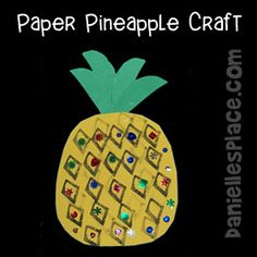 Sunday school pretty pineapples to decorate a bulletin board Bible craft from www.daniellesplace.com
