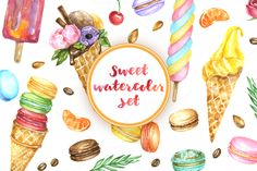 Summer desserts : watercolor DIY kit @creativework247