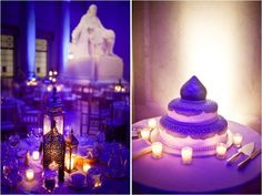 Moroccan themed centerpieces and dome cake