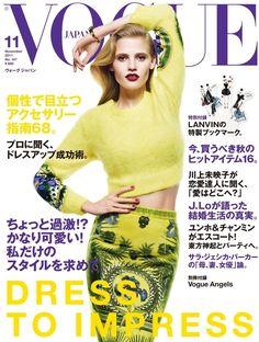 Lara Stone by Mario Sorrenti Vogue Japan November 2011