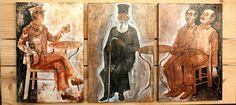 """""""Εντύπωση μεγάλη μου κάνει, πως αυτός ο Ηγούμενος της Αγίας Τριάδος Νεκτάριος, ζει ακόμη""""... Saints, Painting, Sacred Art, Painting Art, Paintings, Painted Canvas, Drawings"""