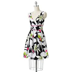 corey p Floral Surplice Empire Dress it is just the right kind of bright