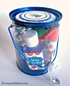 Do you give your kids' teachers gifts for the holidays?  How about a eacher Survival Kit for Holidays at B-InspiredMama.com