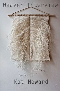 Woven Wall Hanging: Tapestry Weaving in Neutrals, White and Cream with Vintage Silk Linen Thread, Natural Cotton Yarn and Woven Mull Weaving Textiles, Tapestry Weaving, Woven Wall Hanging, Tapestry Wall Hanging, Cordon En Cuir, Paper Quilt, Art Textile, Loom Weaving, Weaving Art