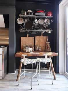 By tackling the project herself, Serena Hunt successfully applied her unique style to a once-run-down Edwardian property Reclaimed Kitchen, Edwardian House, Kitchen Furniture, Interior Decorating, Flooring, Table, Projects, Interiors, Decoration