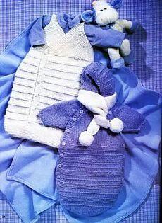 Конверты и спальные мешки вязаные для новорожденных с описанием и схемами