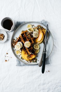 The First Mess' Easy Gluten-Free Waffles with Maple-Spice Buckwheat Crispies + A Giveaway | TENDING the TABLE