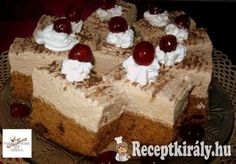 Tiroli gesztenyés szelet **Katt a képre, ha érdekel a receptje is** Poppy Cake, Hungarian Recipes, Sweets Cake, Cake Cookies, Oreo, Delicious Desserts, Food And Drink, Pudding, Tacos