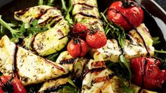 Haloumi, tomaat en courgettes op de grill - Powered by @ultimaterecipe