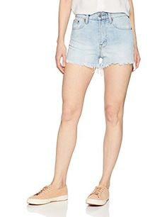 Lutratocro Girls Elastic Waist Denim Cutoff Hole Jean Cute Shorts