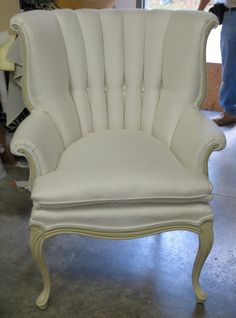 Channel Back Queen Anne Chair  Totally by WydevenDesigns on Etsy