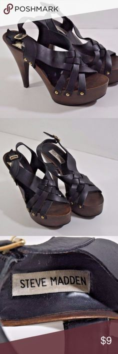 Steve Madden Desi Leather Upper Strap heels - Size Steve Madden Desi Leather Upper Strap heels - Size 8 Steve Madden Shoes Heels