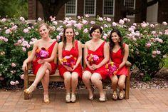 5-Red, Fuchsia, Orange Wedding
