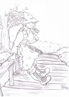 My creation of Snufkin from the Moomins :) Media: pencil