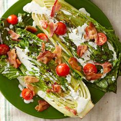 Turn your salad on its head—try grilling halved romaine for a tasty start to this BLT-inspired salad. More summer salads: http://www.bhg.com/recipes/salads/ideas/salad-recipes-ideas/