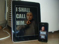 Dr evil and mini me Ipad and iphone(: ahahaha Haha Funny, Funny Cute, Funny Stuff, Funny Things, Random Things, Awesome Stuff, Random Stuff, Awesome Thoughts, Frases