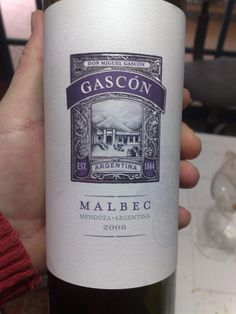 Argentina´s Wines Revisited by Miguel: Gascon Malbec 2006