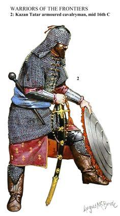 Kazan Tatar armoured cavalryman, middle of the 16th century
