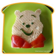 Winnie The Pooh - this site has 60 super cute ideas for kid's food presentation including a spaceship, Sponge Bob, a pirate as well as a bunny!