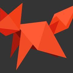 Origami fox Framed Prints, Canvas Prints, Art Prints, Wood Print, Decorative Throw Pillows, Art Boards, Origami, My Design, Fox