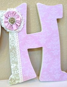 Custom Wooden Nursery Letters Baby Girl Nursery by TheRuggedPearl, $17.50