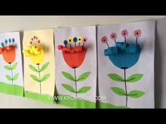 Discover recipes, home ideas, style inspiration and other ideas to try. Christmas Crafts For Kids, Summer Crafts, Easter Crafts, Diy And Crafts, Arts And Crafts, Paper Flowers Craft, Flower Crafts, Flower Art, Drawing For Kids