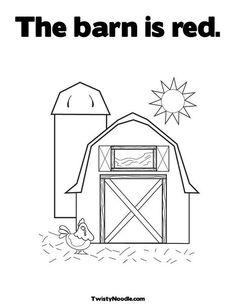 Farm: Craft - Barn Coloring Page