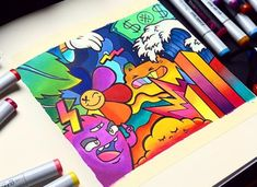 Doodle Art Name, Doodle Art Drawing, Doodle Sketch, Graffiti Doodles, Graffiti Drawing, Graffiti Art, Space Drawings, Cool Art Drawings, Art Drawings Sketches