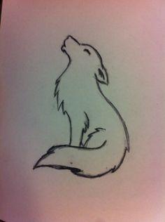 """Résultat de recherche d'images pour """"minimalist wolf tattoo ..."""