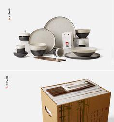 ¥ 288  原创日式粗陶餐具礼盒套装 厨房碗盘陶瓷创意饭碗汤菜碗盘碟子-tmall.com天猫