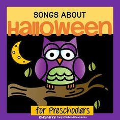 Halloween songs and rhyme for preschool Pre-K and Kindergarten.