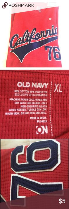 Men's Old Navy long sleeves crew neck. Brand new Old Navy long sleeve crew neck. Red color. Made in India. Old Navy Sweaters Crewneck