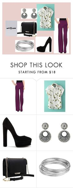 """""""wow"""" by maybejustonetear ❤ liked on Polyvore featuring Plein Sud Jeanius, Casadei, Gypsy SOULE, Worthington and NAKAMOL"""
