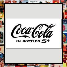 COCA COLA in Bottles 5 cents STENCIL Vintage Coke Price Sign/Soda Pop Label #TheCrafteeDragon